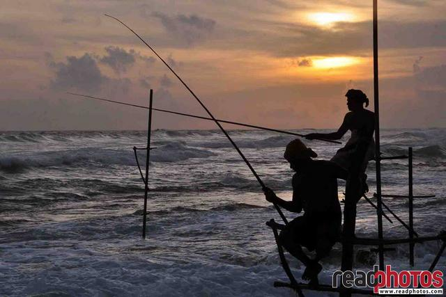 Fishing in the sea, Sri Lanka