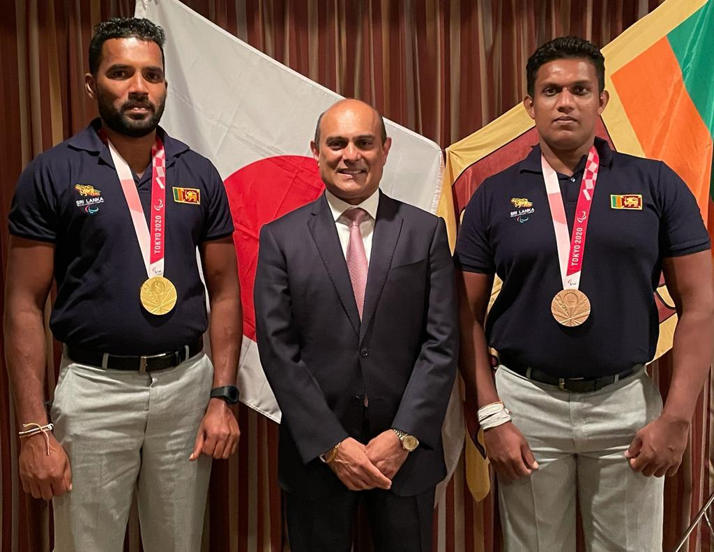 Sri Lankan Paralympic medalists honored by by Sri Lankans in Japan - Read Photos