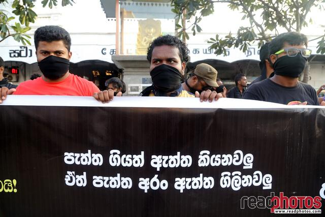 Protest against unethical media, Colombo, Sri Lanka