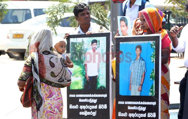 Protest for missing people in Colombo, Sri Lanka