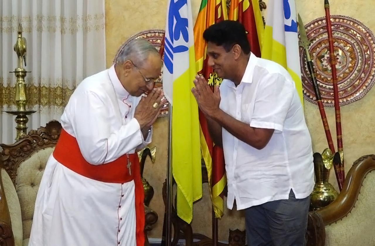 Sajith Meets the Cardinal Malcolm Ranjith