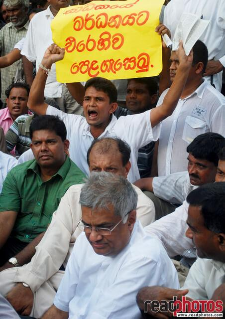 UNP protest 2011 - Read Photos