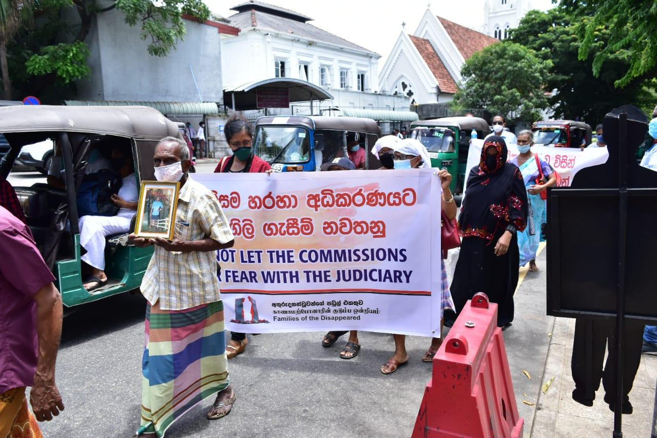 Protest for requesting the rights of the disappeared