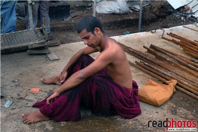 Monk after a tear gas attack, Sri Lanka - Read Photos