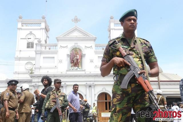 Aftermath of the bomb blast in Kochchi kade church, Sri Lanka 2019 (3)