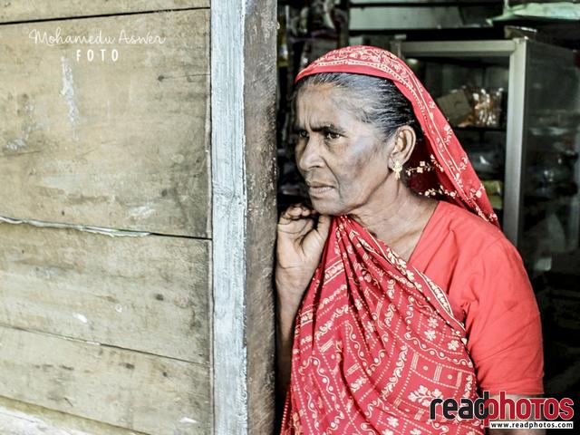 Old lady look at.. , Sri Lanka