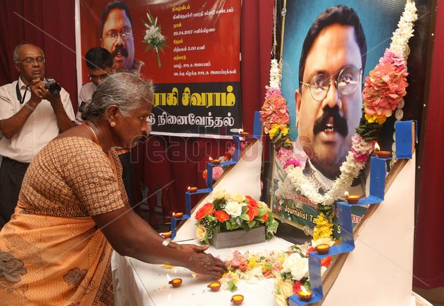 Death Annivesary of slain Sri Lankan journalist Sivaram at Killinochchi in 2017 (1) - Read Photos
