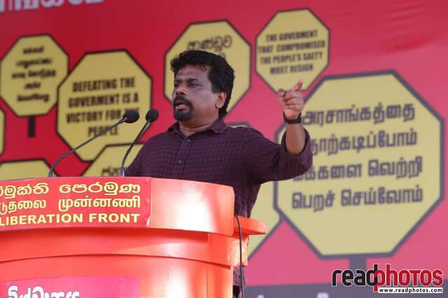 JVP rally against government, Sri Lanka