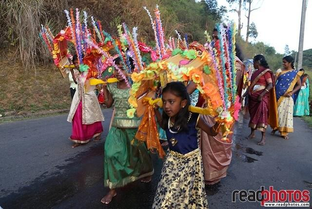 Kavadi dance by a little girl, Sri Lanka