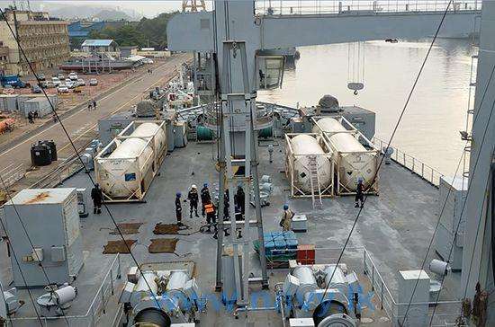 SLNS Shakthi and INS Shakti set sail to Sri Lanka with medical grade oxygen