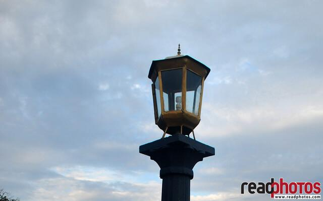 Street Lamp, clouds, Sri Lanka - Read Photos
