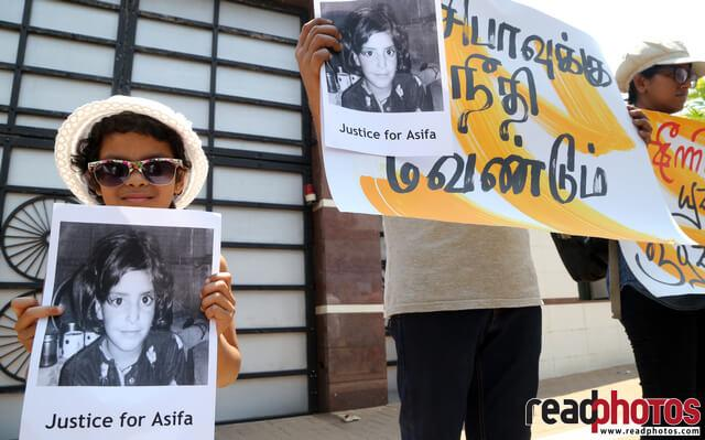 Supporting protest for Asifa in front of the Indian high commission, 2018 (3)