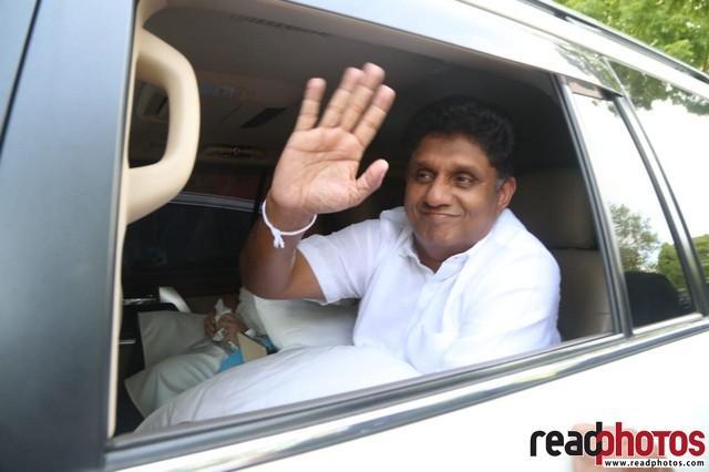 Sajith Premadasa casts his vote