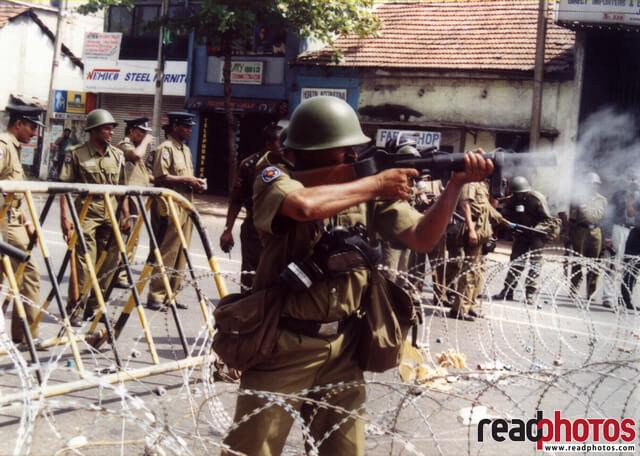 Opposition protest in 90s, Sri Lanka (2)