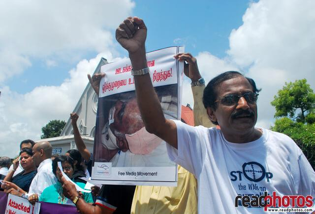 Protest for media freedom, Colombo, Sri Lanka