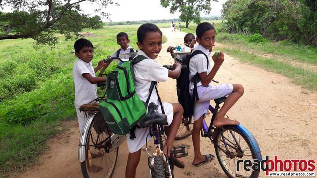 Smiling, School boys, Sri Lanka - Read Photos