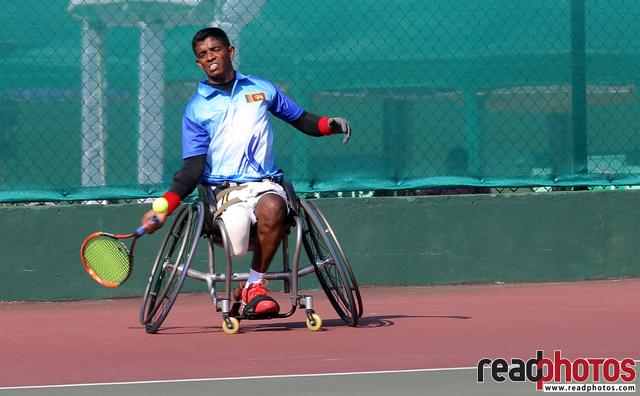 Handicap tennis game in Sri Lanka
