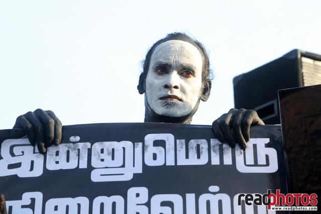 No more executive presidency– protest in Colombo Fort, Sri Lanka (5)