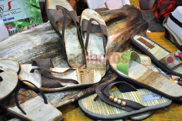 Slippers made from palm leaves, Sri Lanka