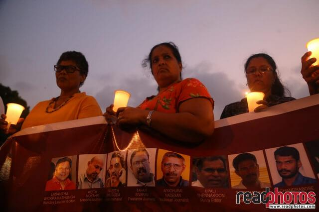 Journalist memorial event, Viharamahadevi park, Sri Lanka 2019 (3) - Read Photos