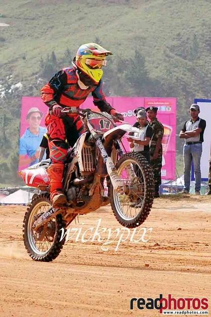 Motor cross rider wheeling, Sri Lanka
