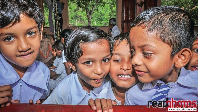 School kids, group up, Sri Lanka