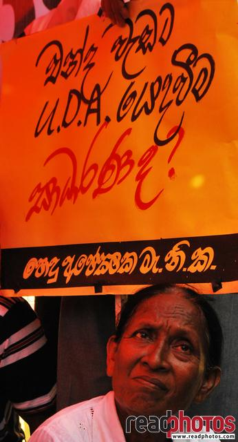 Protest Common candidate, Colombo, Sri Lanka