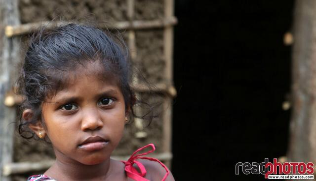 Little girl with cute eyes, Sri Lanka