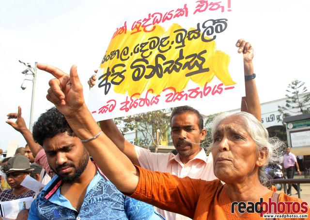 Protest for no more war, Sri Lanka (1) - Read Photos
