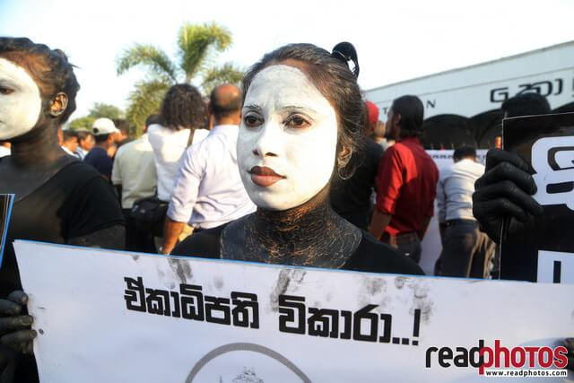 No more executive presidency– protest in Colombo Fort, Sri Lanka (10)
