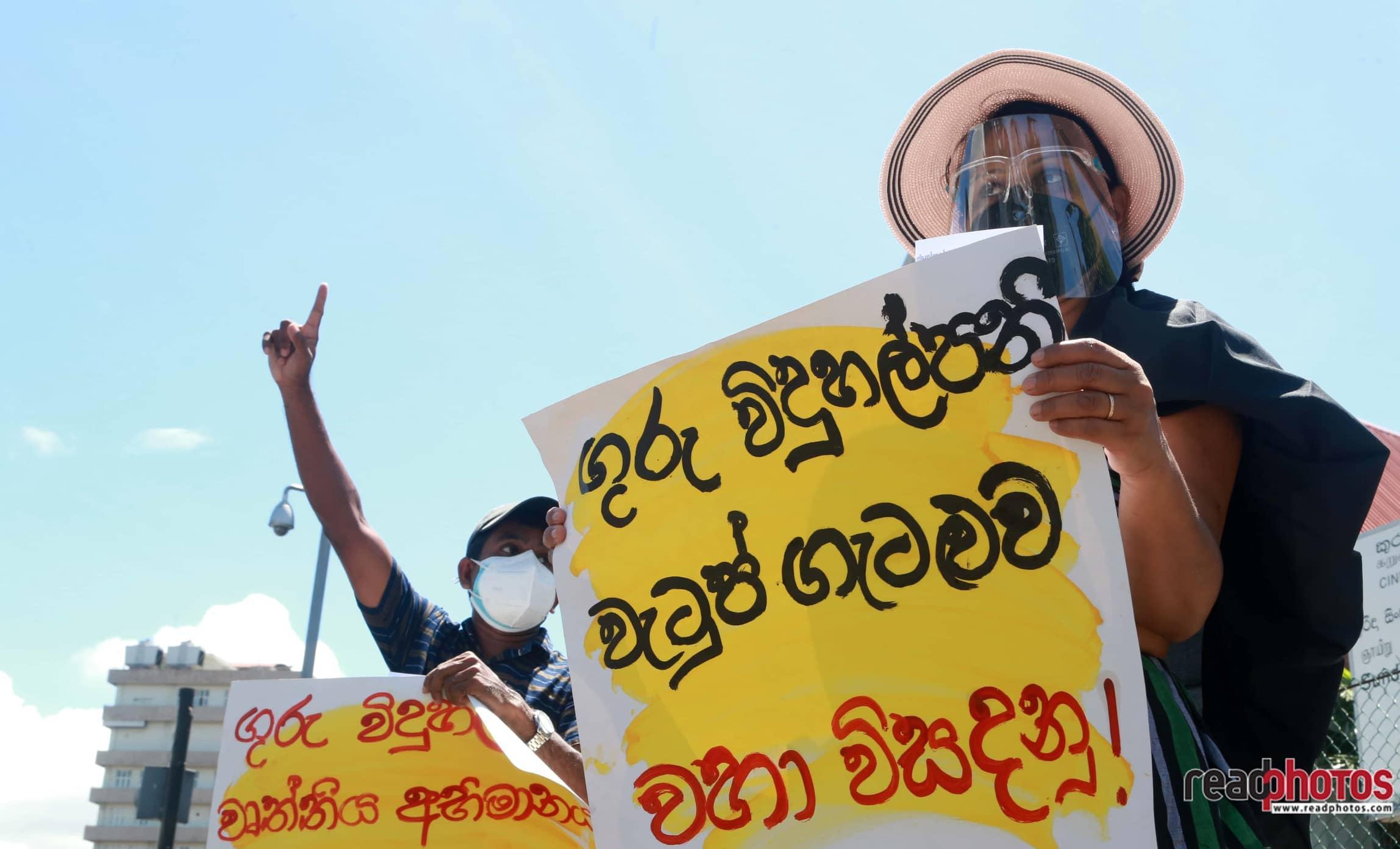 Teacher-Principal protests - Read Photos
