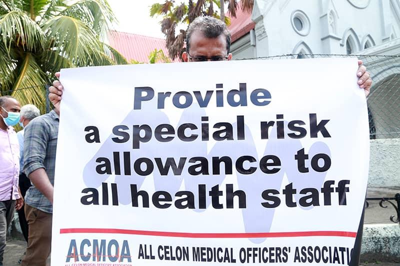 Silent Protest of the Association of All Ceylon Medical Officers