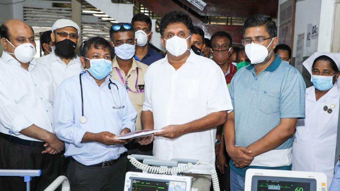 Hospital equipment donated by Sajith Premadasa's Janasuwaya Project