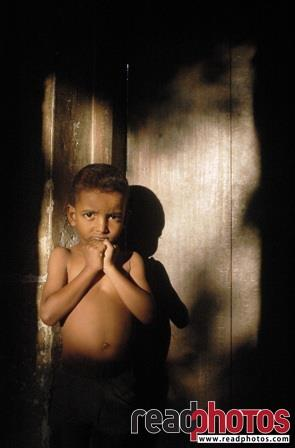 Lonely young boy, Sri Lanka