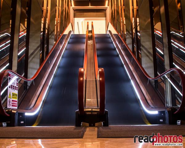 Shopping mall automatic staircase, Sri Lanka