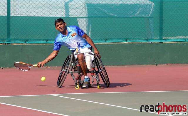 Handicapped man, Tennis Play, Sri Lanka