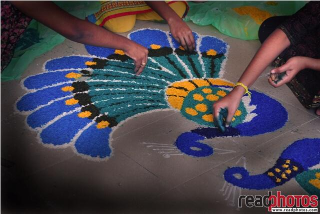 Hindu, Kolam art, Sri Lanka - Read Photos