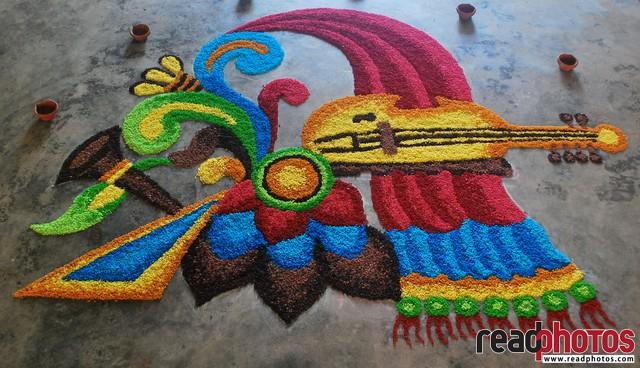 Music kolam art, Sri Lanka