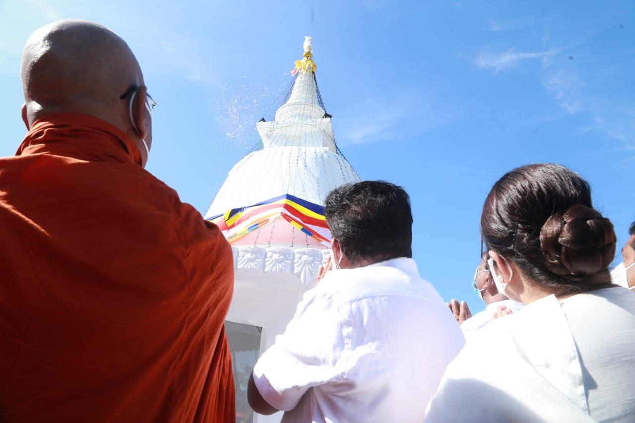 Offering the Napana Thero commemorating Stupa for the Buddha Sasana