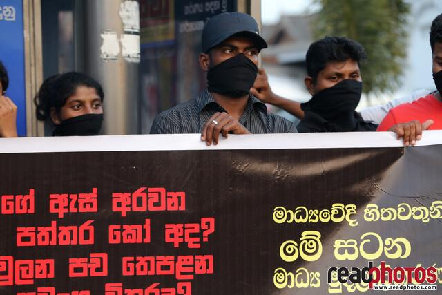 Protest against unethical media, Colombo, Sri Lanka (13) - Read Photos