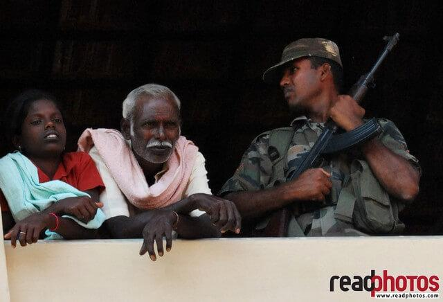 Refugees, and a Army man, Sri Lanka - Read Photos