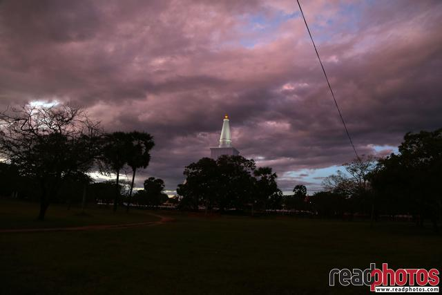 Ruwan weli pagoda at night, Anuradhapura, Sri Lanka