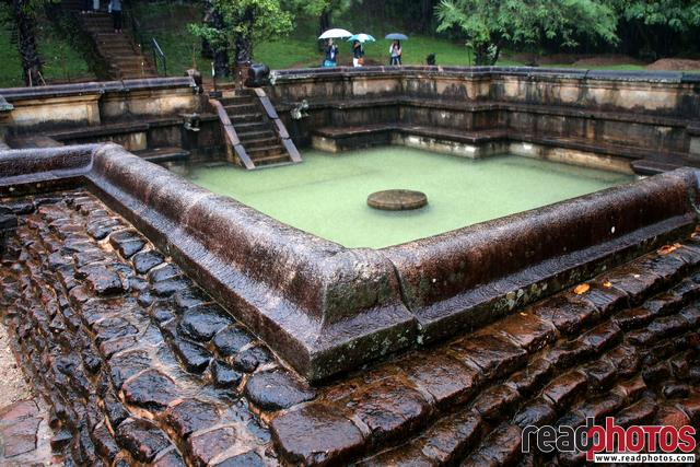 Ancient ruins, swimming pool, Sri Lanka
