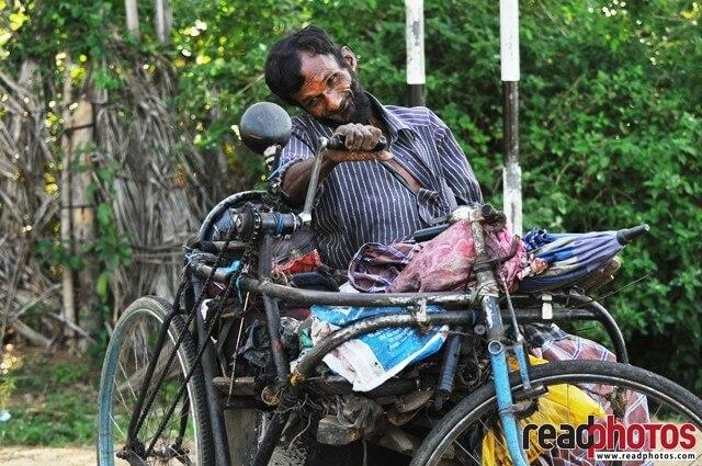 Handicapped shoe maker, Sri Lanka