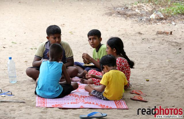 Group of kids, Panama, Sri Lanka