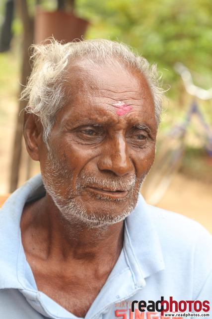 Sad looking old grandfather, Sri Lanka (1) - Read Photos