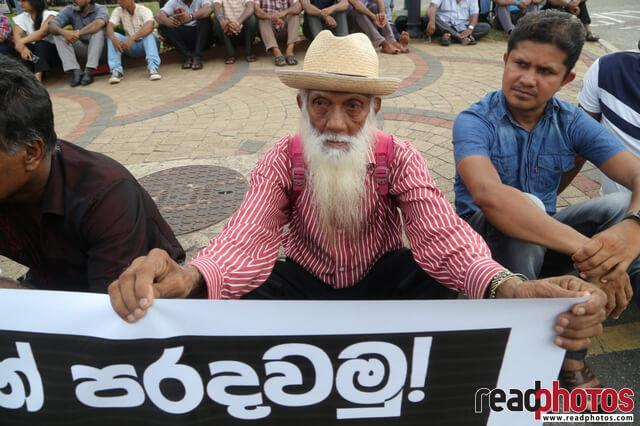 Protest against government after bomb attack 2019, Sri Lanka (2)