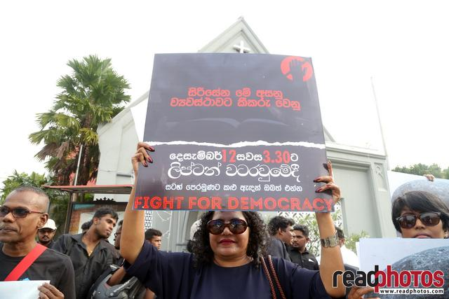 Civil society activist protest, Sri Lanka, 2018 (5)