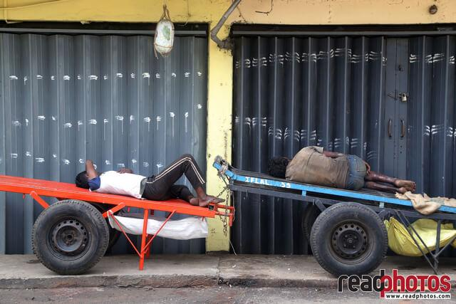 Sleeping Laborer, Pettah, Sri Lanka (2) - Read Photos