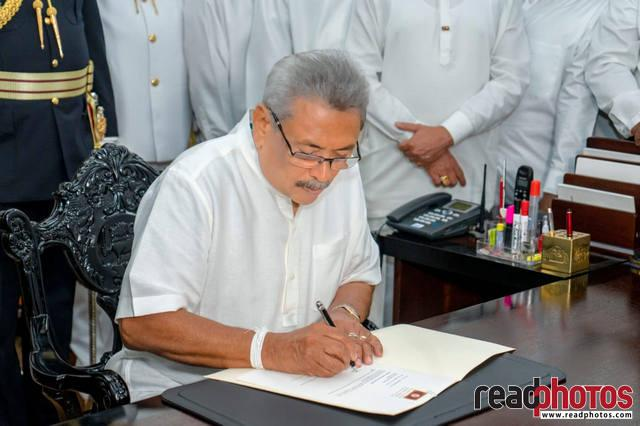 President Gotabaya Rajapaksha assumes duties